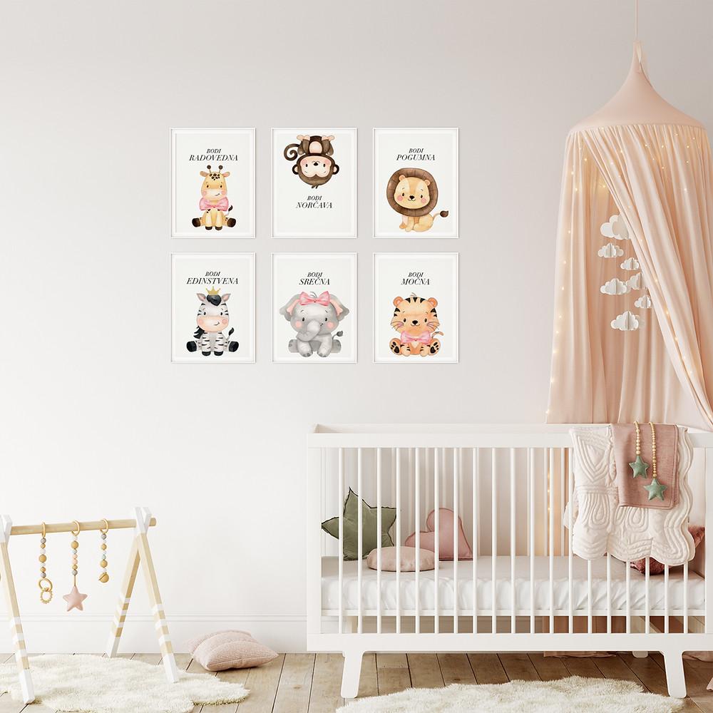 Brezplačni okvirji za otroško sobico