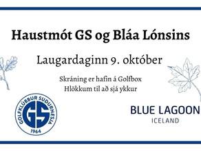 Haustmót GS og Bláa Lónsins