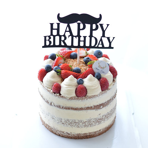 Caramel & Berry Naked Cake