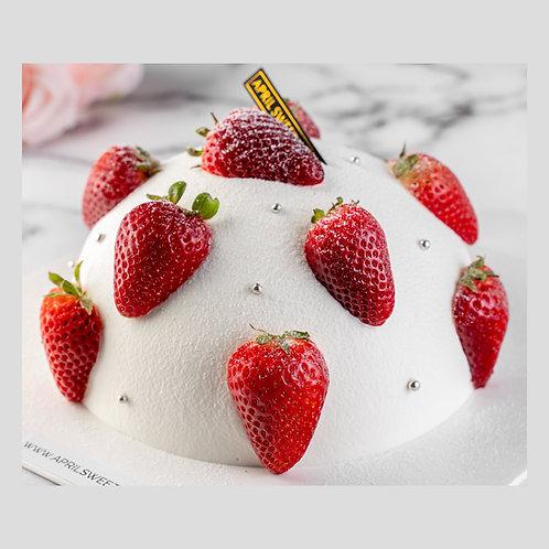 Strawberry Matcha Volcano