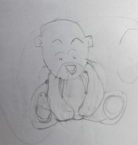 petit ours au crayon
