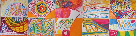peintures qui forment une fresque