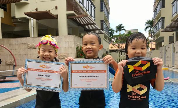 Swim Test April 2017 Certificates!