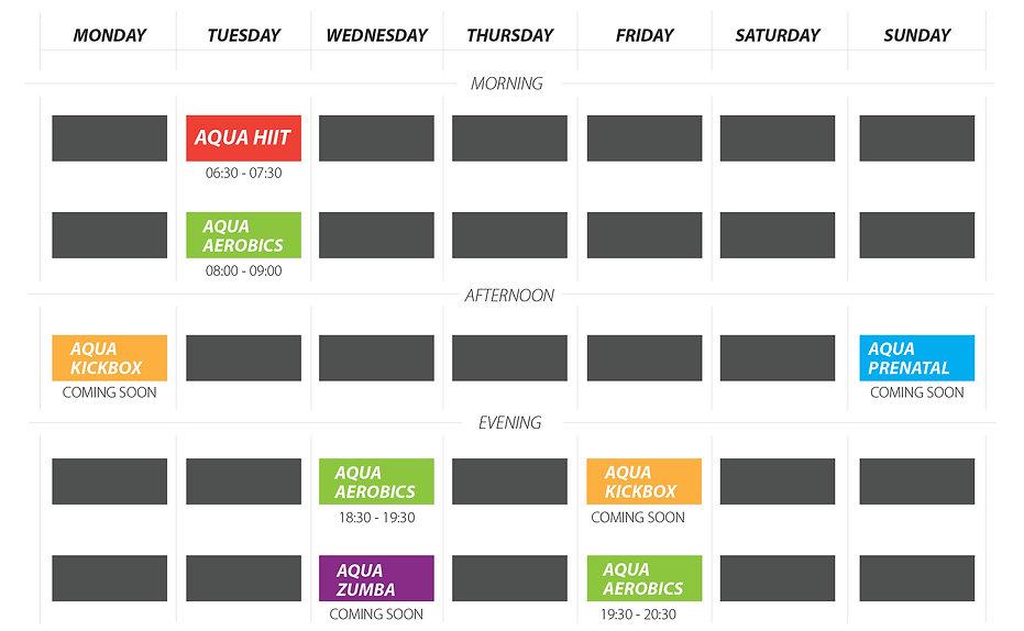 Aqua Fitness Classes & Time slots