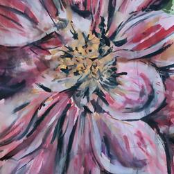 Jarní květiny akvarel