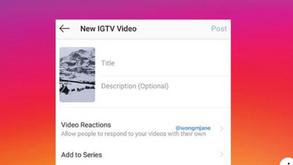 #每日第一手國外社群新知 #數位社群行銷平台的變化【Instagram正在測試IGTV的新視頻回覆選項】