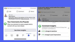 #每日第一手國外社群新知 #數位社群行銷平台的變化【Facebook希望通過新評論參與統計信息提示更多評論👥】