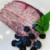 Blueberries & Creme Crepe Cake😋I'm not