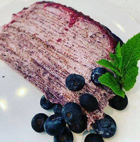 Blueberries & Creme Crepe Cake😋I'm not