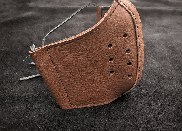 Leather Mask- Basic Brown