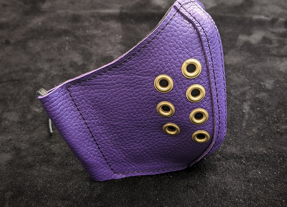 Leather Mask- Purple