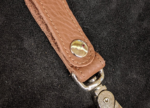 Belt Clip- Brown/Silver
