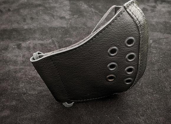 Leather Mask- Black on Black
