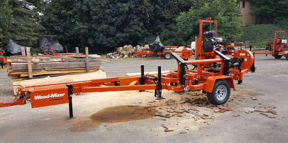 Mobil saw mill ready to go