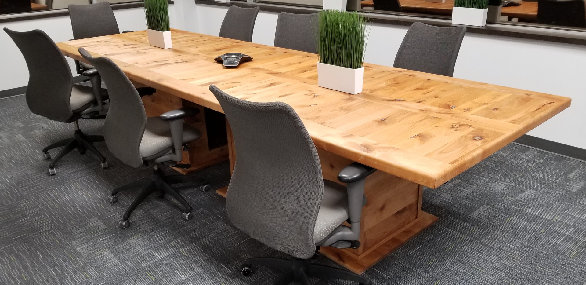 knotty alder office table
