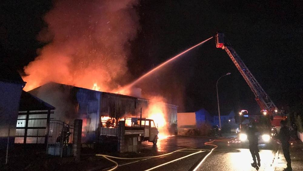 Incendie dans une blanchisserie à Ploemeur