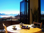 Tekapo B2 Lakeview apartment  view from dining