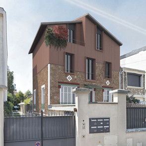 Extension en surélévationd'une maison de ville - NOGENT SUR MARNE
