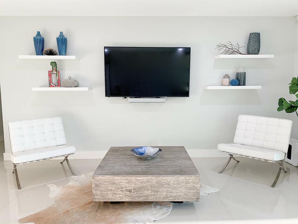 Family room TV wall
