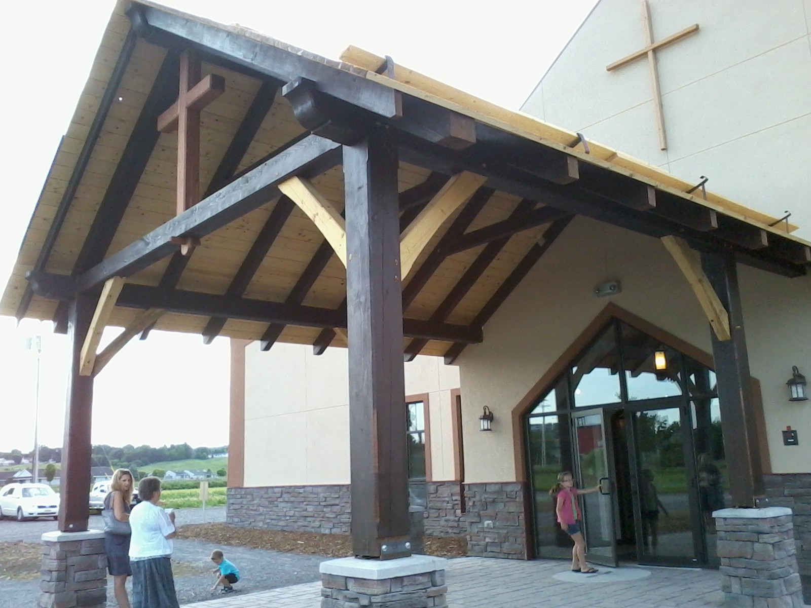 Timber Frame Church Portico