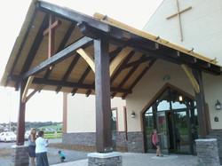Timber Frame Church Portico