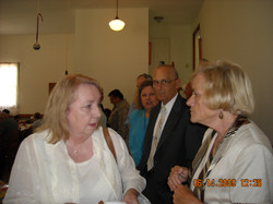 Stinchcomb Homecoming, June 14, 2009, L - R, Billi Yarborough, Jane Johnson, Rev. John Sexton and Ga