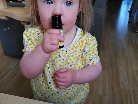 Etherische olie voor hele kleine kinderen