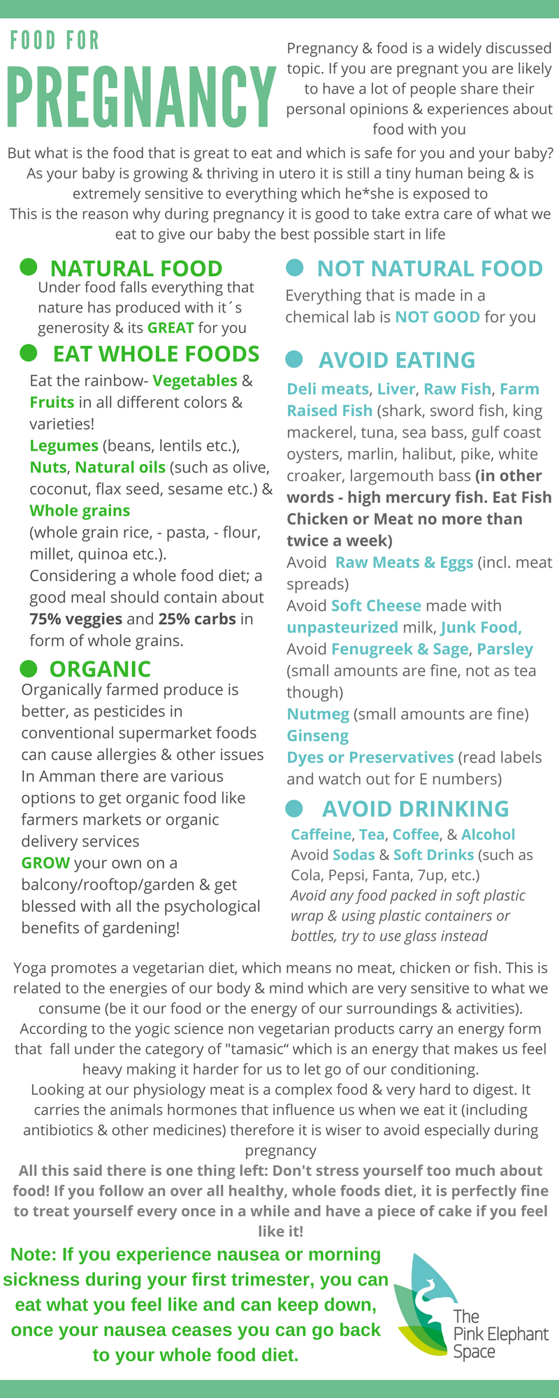 Food For Pregnancy Info Graphic