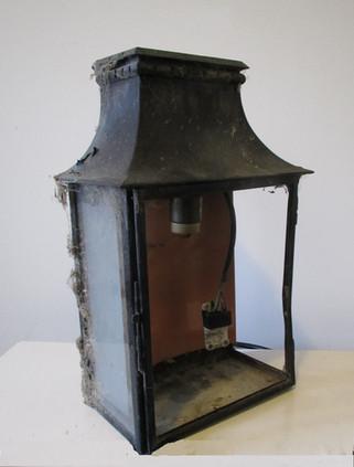 Copper Frame Wall Lantern