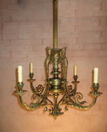 Brass Chandelier Repaired