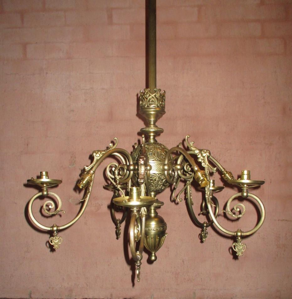 Brass Ceiling Light.