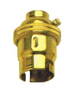 Brass BC Lamp Holder Plain. 13mm Entry