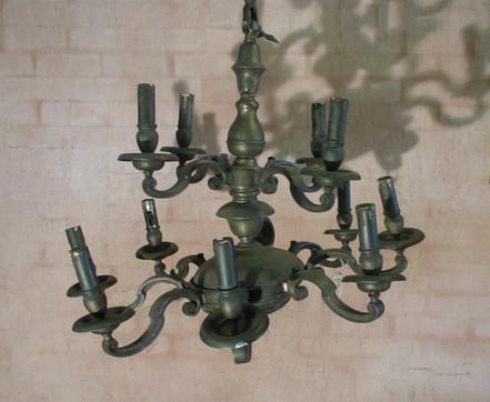 Damaged Brass Chandelier