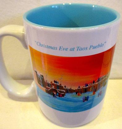 Jonathan Warm Day (aqua/wht) Christmas Eve at Taos