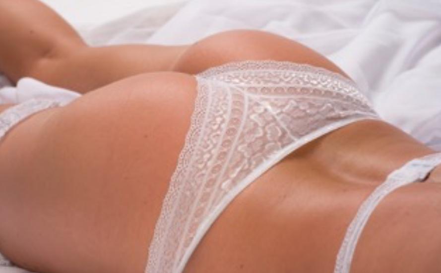 White Lace G-string Set