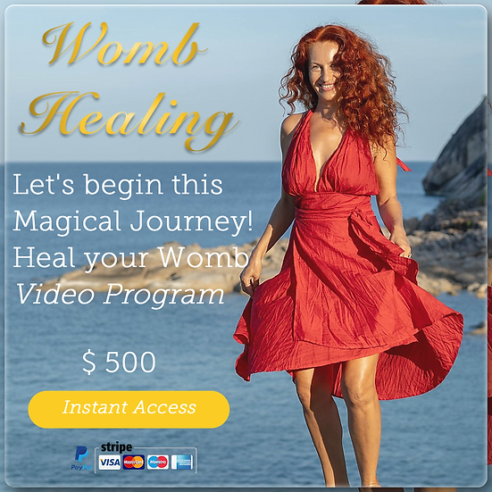 Step 1 - WOMB HEALING PROGRAM (7 videos). Digital Product.