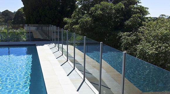 Semi Frameless Fencing per lineal metre
