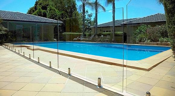 Fully Frameless Fencing per lineal metre