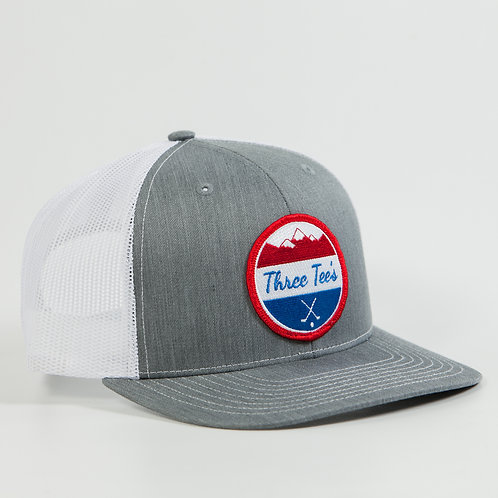 Three Tee's Golf Logo Snapback-Freedom