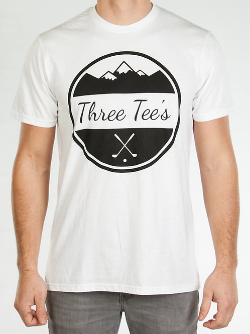 Three Tee's Golf T-Shirt-White