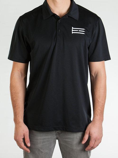 Three Tee's Golf Secondary Logo Polo-Black