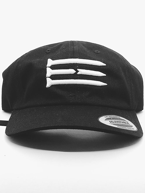 Three Tee's Dad Hat Tri-Tees- Black