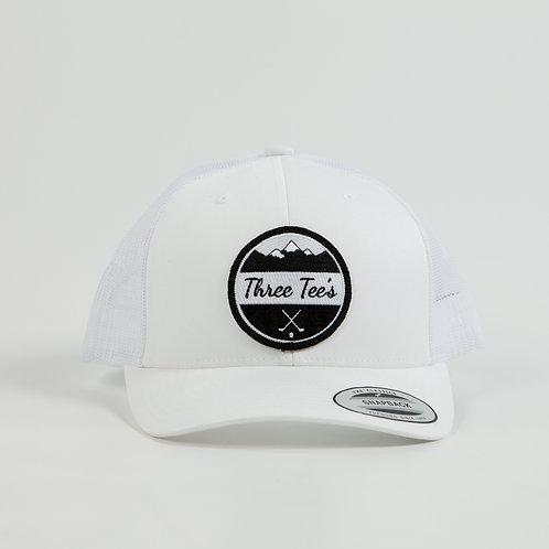 Three Tee's Golf Logo Snapback-Frost