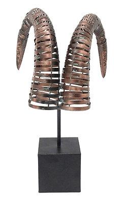 Escultura Cuernos Carnero Metálica