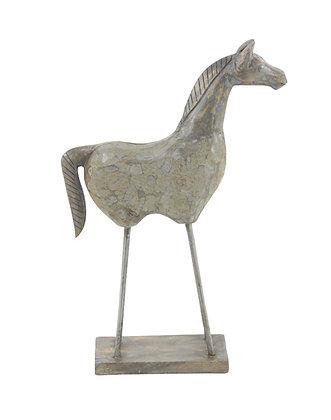 Escultura Caballo Gris