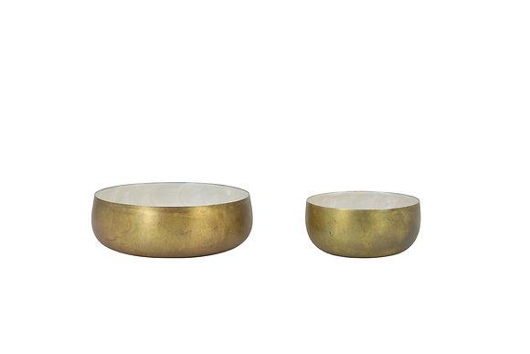 Bowl Brono Metal Oro L