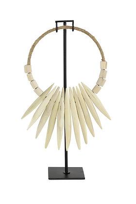 Escultura Collar Papua Blanco