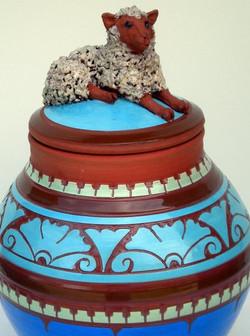Sculpted Ewe Pot