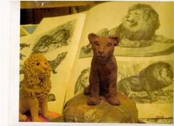 Female Lion Sculpture in Progress