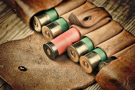 Old hunting cartridges and bandoleer on